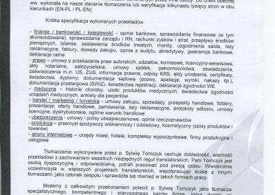 List referencyjny - 3alink Biuro Tłumaczeń Lancelto